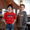 Youth Racing Hoodie Sweatshirt with Polaris® Logo, Gray - Image 2 of 2