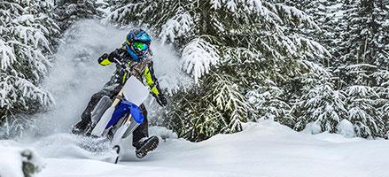 Snow Dirt Bike >> Powering Through The Powder On A Dirt Bike Made For Snow