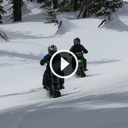 110cc Bikes in the Snow