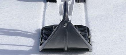 Integrated track Ski